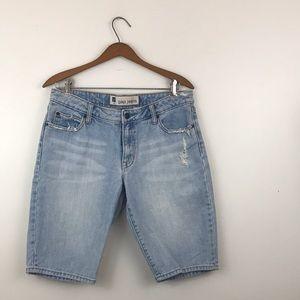 Gap Jeans Distressed Bermuda Jean Shorts